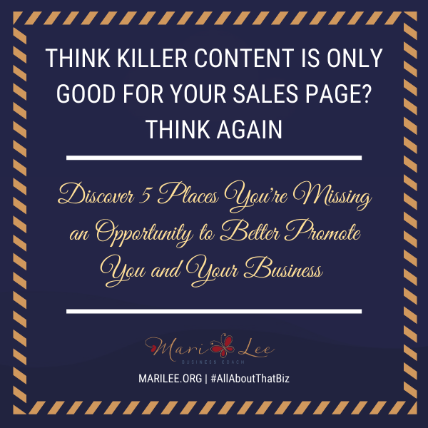 Think Killer Content is Only Good for Your Sales Page? Think Again.