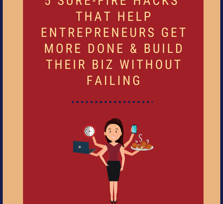 5 Sure-Fire Hacks That Help Entrepreneurs Get More Done & Build Their Biz Without Failing