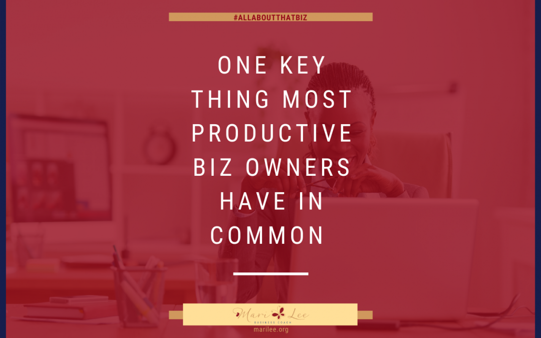 One Key Thing Most Productive Biz Owners Have in Common