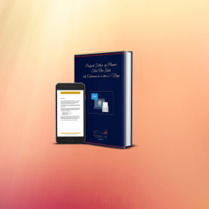 "Mockup of a book with the title ""Prospect Follow-Up Planner"" and a iphone laying to the side"