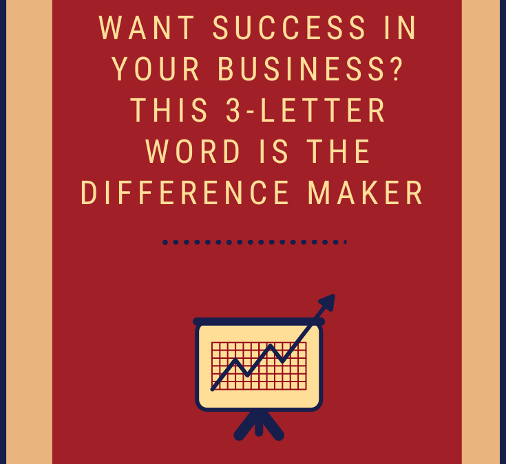 Want Success in Your Business? This 3-Letter Word is the Difference Maker