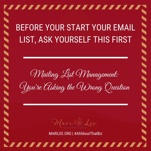 Before You Start An Email List, Ask Yourself This First