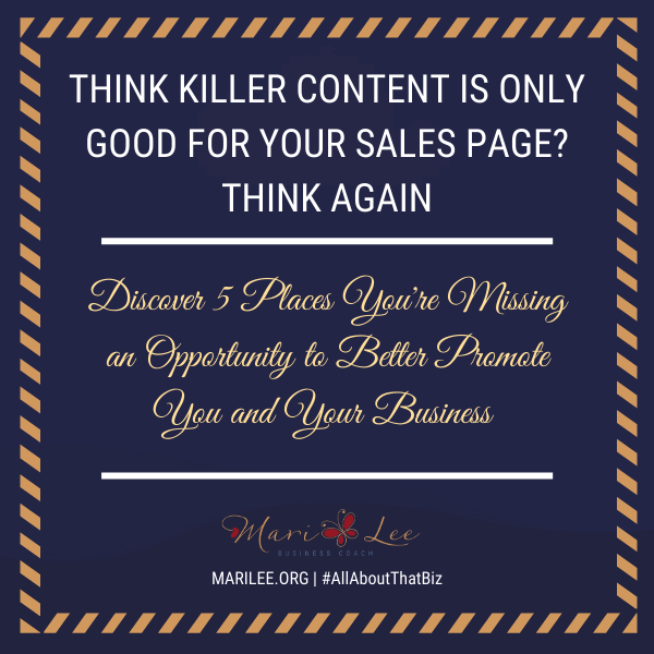 Think Killer Content is Only Good for Your Sales Page? Think Again